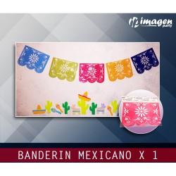 Banderin Plástico Mexicano