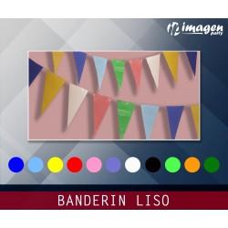 Banderin Plástico Liso