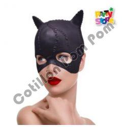 Máscara Látex Mujer Gato -...