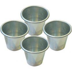 Vaso Flan Con Borde Aluminio