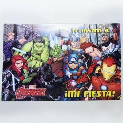 Invitaciones x10 Avengers