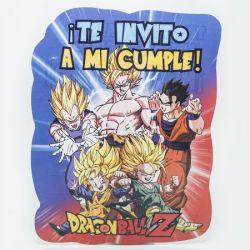 Invitaciones x10 Dragon Ball