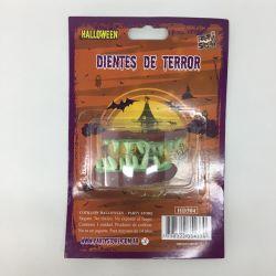 Dientes Zombie Verde Goma
