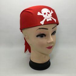 Casco Pirata Pañuelo Rojo
