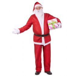 Disfraz Adulto: Papá Noel Paño