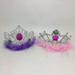 Corona Princesa con plumas x1