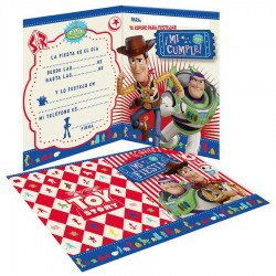 Invitaciones x10 Toy Story