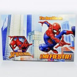 Invitaciones x10 Spiderman