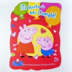 Invitaciones x10 Peppa Pig