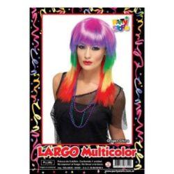 Peluca Larga x1 Multicolor
